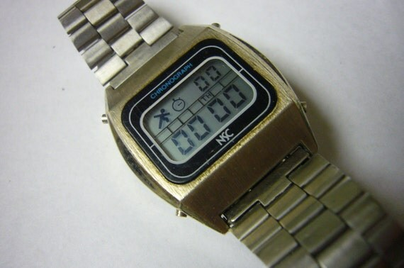 Vintage LCD Digital National Semiconductor Rare Chronograph 1970's SALE