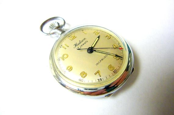 Watch Swiss HUDSON Swiss Watch Vintage Swiss Made Pocket Watch Rare Beautiful Watch Great Condition ON SALE