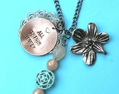 Hand Stamped Customizable Long Chain Charm Necklace