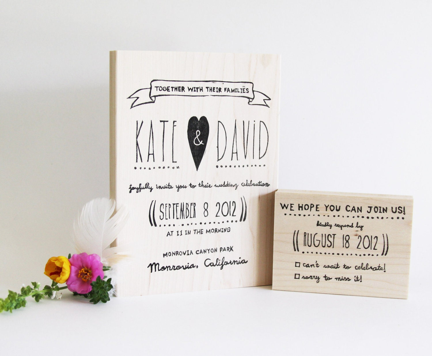 Wedding Invite Stamp: Chandeliers & Pendant Lights