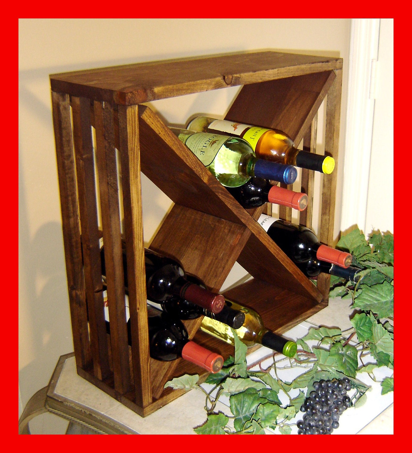 crate wine rack wood wine rack storage cube crate by rchristopherdesigns 30215