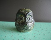 Green Owl Votive Candle Tea Light Holder