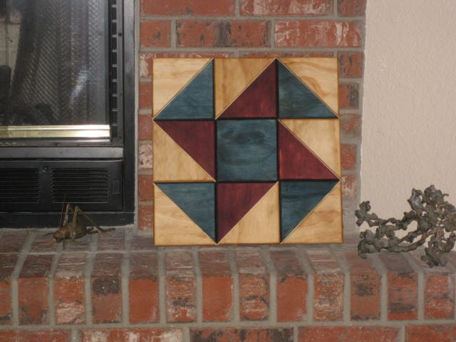 Wood Barn Quilt Spinning Pinwheel Block Style Wall Hanging Or