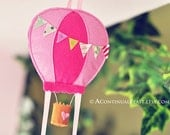Hot Balloon Bow Holder in Sweet Pink