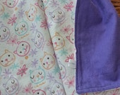 """Purple and Pink Kitty Receiving Blanket - 32""""x 32"""""""