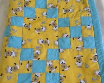 Nine Patch Mariner Quilt- Salty Sea Pup