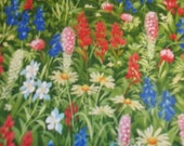 WildFlowers IV by Sentimental Studios for  Moda fabrics multi colored wild Flowers all over Collection 1 yard