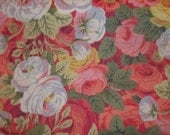 Rambling Rose By Philip Jacobs for Rowan from Free Spirit Pastel packed multi colored roses OOP 1 yard cotton quilt fabric
