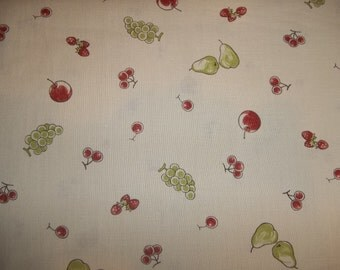 New from Vintage pattern with fruit Moda Lil Rascals  from Chloes Closet Vitage style Made in Japan 100 percent cotton 1 yard