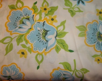 sale church flower print  from Heather Bailey from Nicey Jane collection for Free Spirit 1/2 yrd or 1 yrd cotton quilt fabric