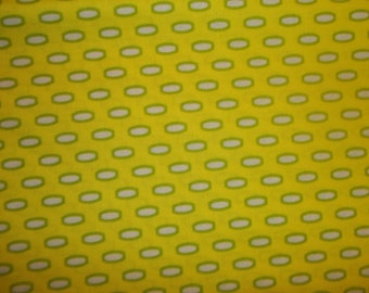 Modern Beads from Heather Bailey from Bijoux collection for Free Spirit  bright Lime green 1 yard cotton quilt fabric