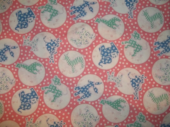 Pond by Darlene Zimmerman for Robert Kaufman Little Blessing Booster Club collection Camellia  BG 1930s reprint fabric 1 yard