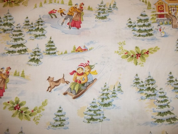 Beautiful Christmas print from Clothworks 1 yard of 100 percent cotton fabric