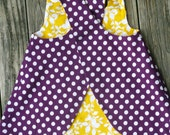 LSU Tigers inspired REVERSIBLE criss cross dress. 12m to 3T