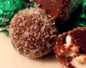 Marshmallow Mint Chocolate Truffles (12)
