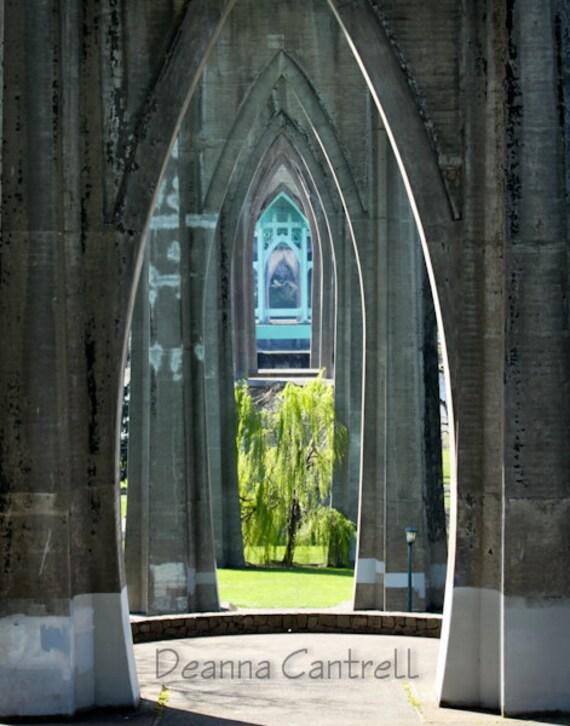 8x10 Photograph, Arches of St. Johns Bridge, Portland, Oregon