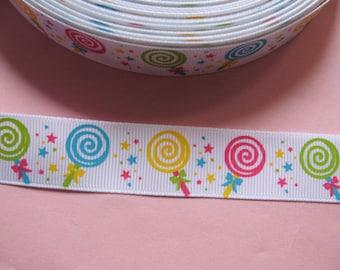 """10y Candy Lollipop 7/8""""Grosgrain Ribbon"""