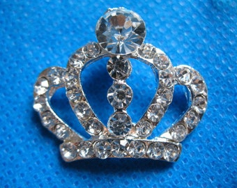 5PCS Sparkling Clear Crystal Rhinestone Crown Buttons A115