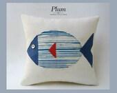 Cushion Cover - Plum fish