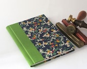 Small Handmade Notebook - Flowers on a Starry Night