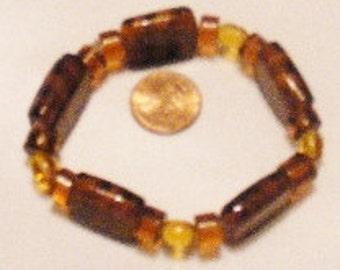Bracelet Coffee Brown Tiger Print, Stretchy Brown Bracelet, Wild Side Bracelet, Jungle Jewelry by CindyDidIt