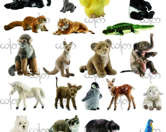 Animal Plush Clip Art Graphic Design Pattern for your art projects