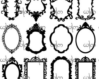 Baroque Frames Clip Art Graphic Design Pattern for your art projects