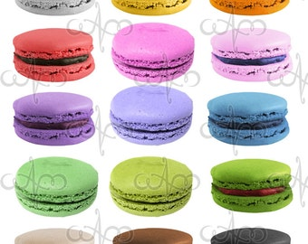 French Macaroon Clip Art Graphic Design Pattern for your art projects