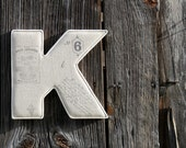French Farmhouse Linen Fabric Letter