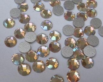 72  pcs  Swarovski  Flat Back Crystal,Crystal AB,(SS12)