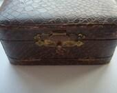 Snakeskin Brush Set in Snakeskin Box