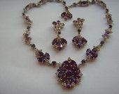 Rhinestone Earrings and Necklace Set