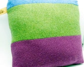 Pillow Cashmere FREE shipping 100%  recycled sweater patchwork colorblock green blue purple color soft gift