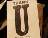 Letterpress Thank You Card ---- by BIMPRESSED