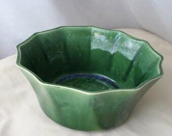 ON SALE California Pottery Green Bowl Planter Ceramic