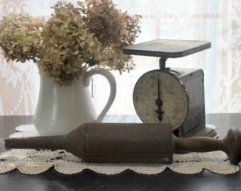 Antique Wood and Metal Sausage Press / Stuffer