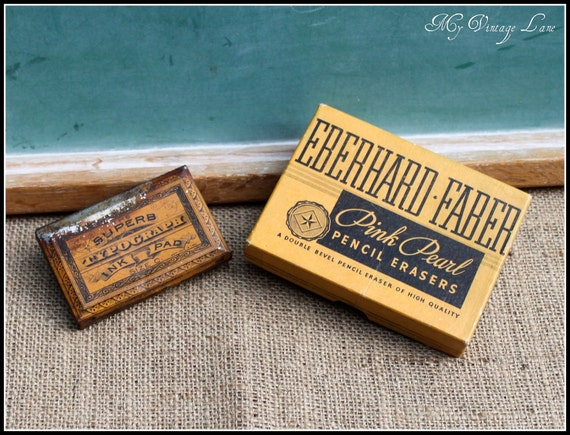Set of Two Collectible School Items