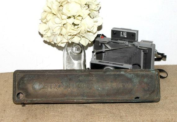 Antique Copper Eastman Kodak Company Developing Box/Reserved