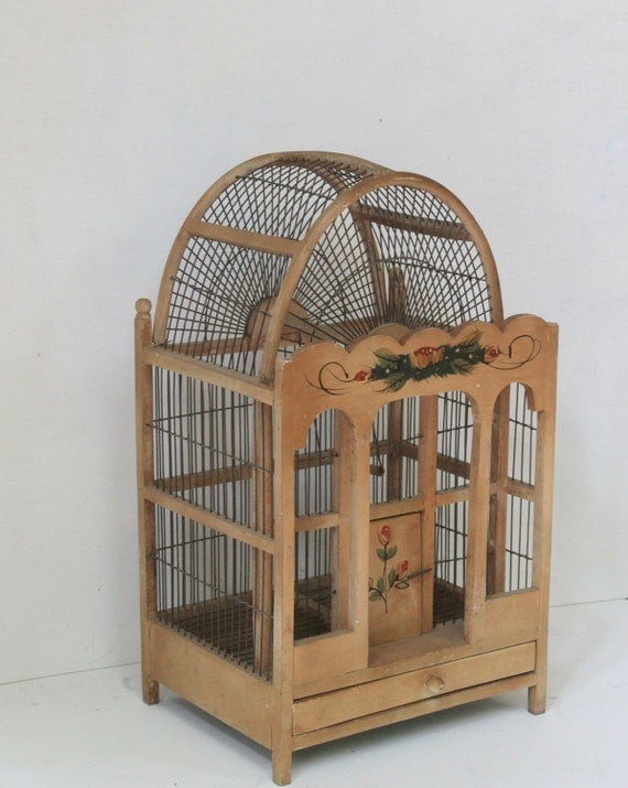 antique wood bird cages 3