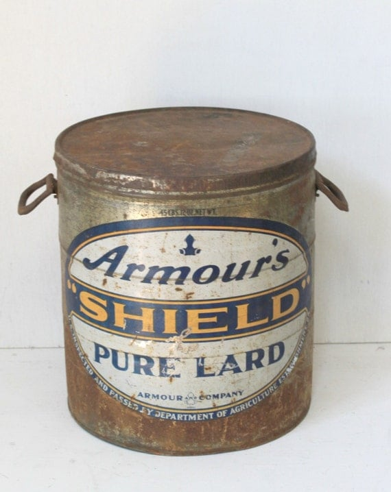 Large Antique Tin