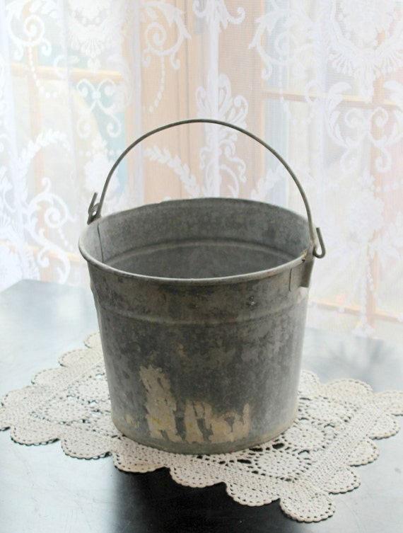 vintage metal wash mop bucket by myvintagelane on etsy