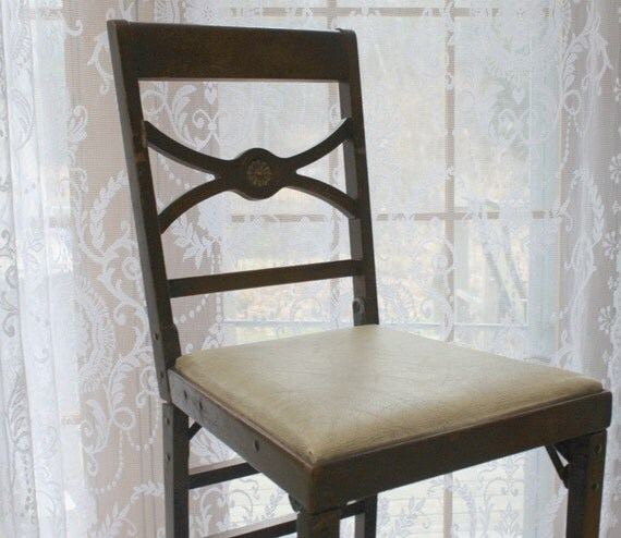 Vintage Wooden Leg O Matic Folding Chair