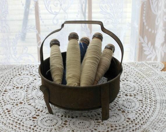 Vintage Industrial Dipping Basket/ Reserved for Doris