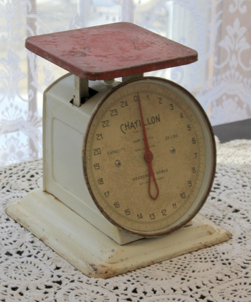 Antique Kitchen Scale: Vintage Chatillon Kitchen Scale