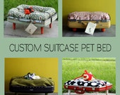 Order a Custom Upcycled Suitcase Pet Bed