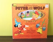 Peter And The Wolf plus The Sorcerer's Apprentice Book and Record Vinyl LP