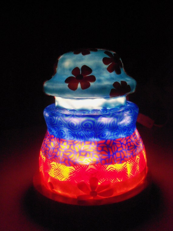 Glass Insulator Night Light - Feeling Groovy Lamp
