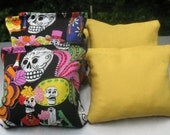 Day of the Dead Skull Cornhole Bags - Set of 8 ACA CERTIFIED