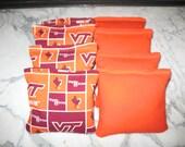 Virginia Tech VT Hokies Cornhole Bags - Set of 8