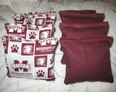 Mississippi State University Bulldogs Cornhole Bags Set of 8 ACA CERTIFIED